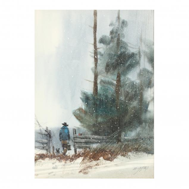 edward-gifford-oh-1927-1998-untitled-man-in-snow