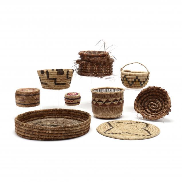 eight-vintage-navajo-baskets