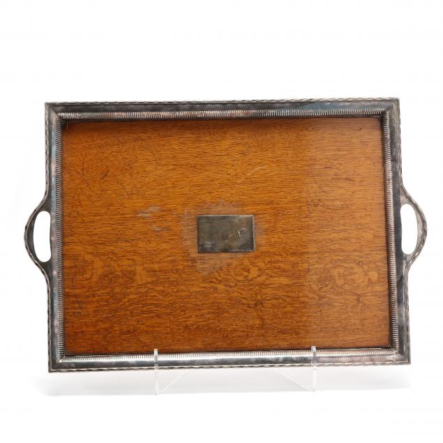 large-antique-oak-silverplate-gallery-tray