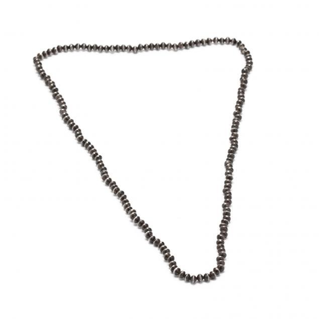 vintage-navajo-silver-bead-necklace