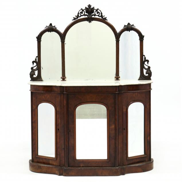 american-rococo-revival-marble-top-mirrored-credenza