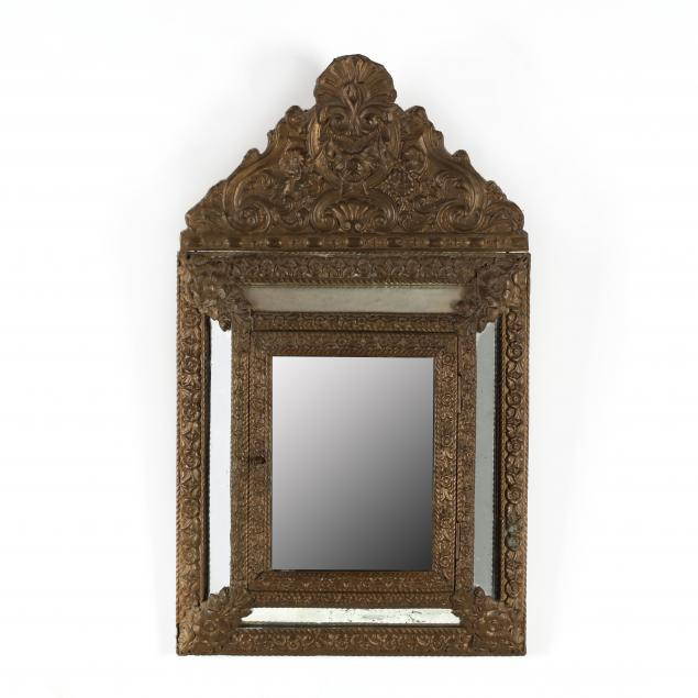 continental-repousse-brass-hinged-door-mirror