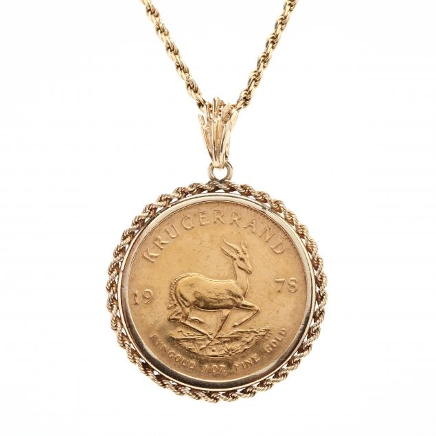 gold-south-african-coin-pendant-necklace
