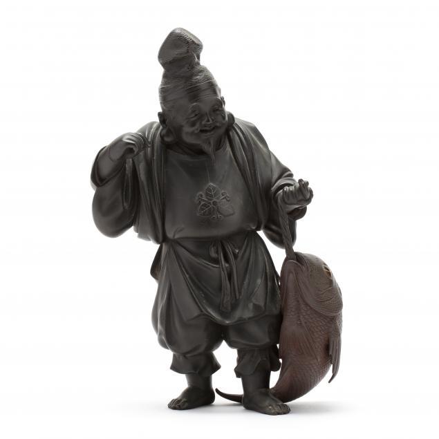a-japanese-bronze-okimono-of-ebisu