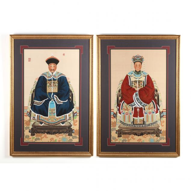 a-large-pair-of-chinese-ancestor-portraits