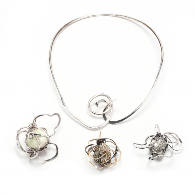 sterling-silver-choker-and-three-silver-and-stone-pendants