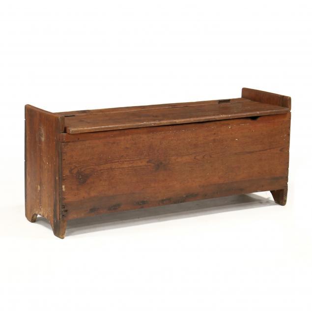 southern-yellow-pine-storage-bench