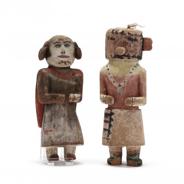 two-vintage-southwestern-kachina-dolls