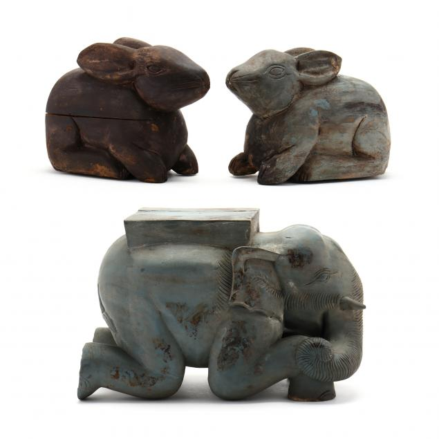 three-southeast-asian-carved-wood-animals