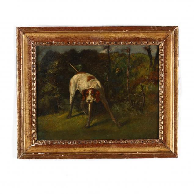 an-antique-english-school-painting-of-a-pointer