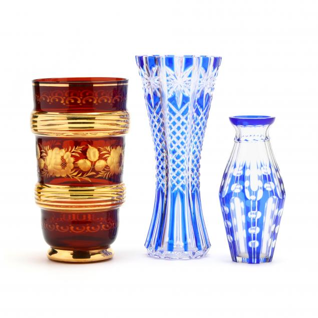 three-cut-to-clear-vases