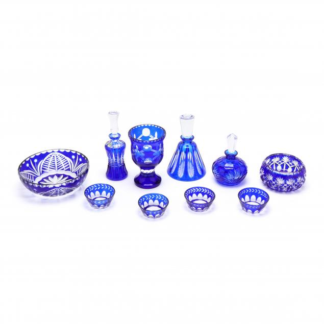 ten-pieces-of-cobalt-cut-to-clear-glass