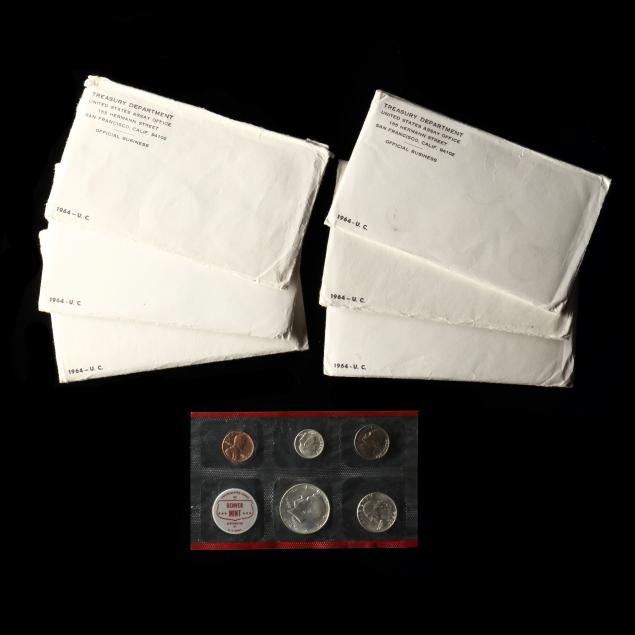 six-1964-uncirculated-five-coin-mint-sets