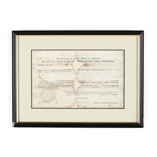 john-quincy-adams-signed-alabama-land-grant