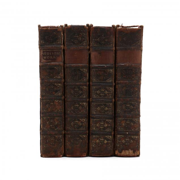 i-the-works-of-the-right-honorable-joseph-addison-esq-i-in-four-volumes