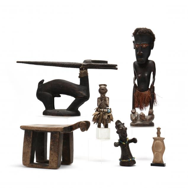 group-of-six-african-carvings