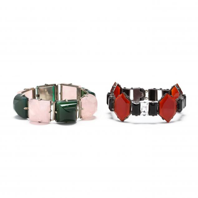 two-hardstone-bracelets