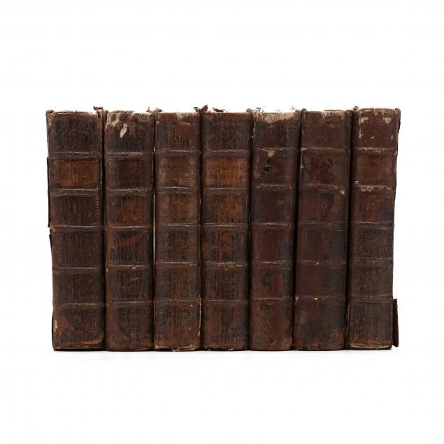 seven-eighteenth-century-volumes-of-shakespeare-s-plays