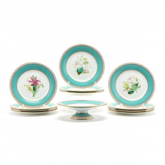 antique-english-porcelain-dessert-set