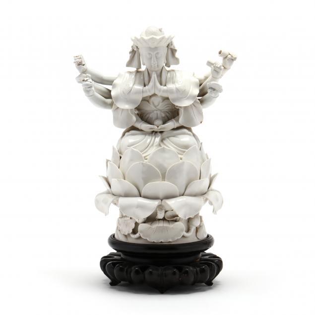 a-chinese-blanc-de-chine-porcelain-thousand-arm-guanyin