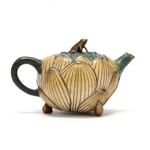 a-chinese-cloisonne-lotus-flower-teapot