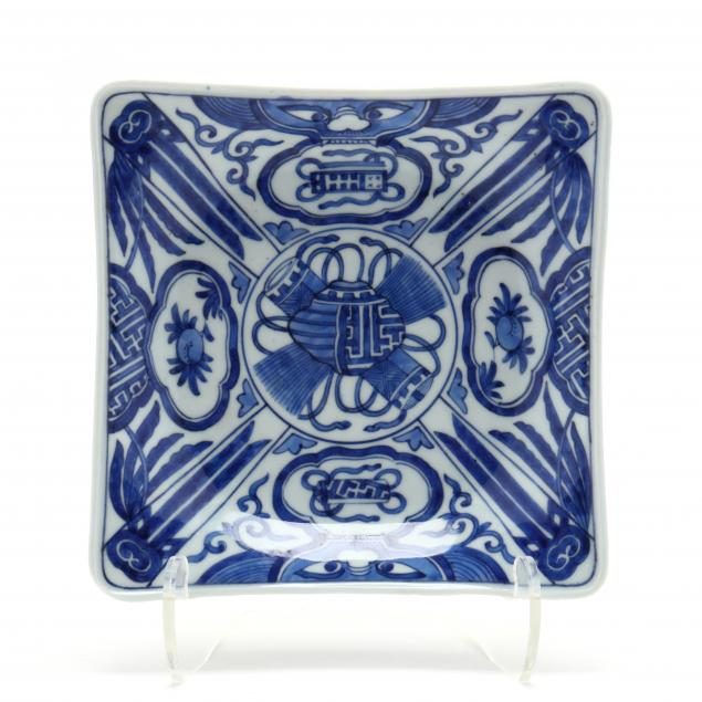 a-chinese-blue-and-white-square-porcelain-dish