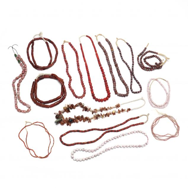 group-of-african-trade-bead-necklaces