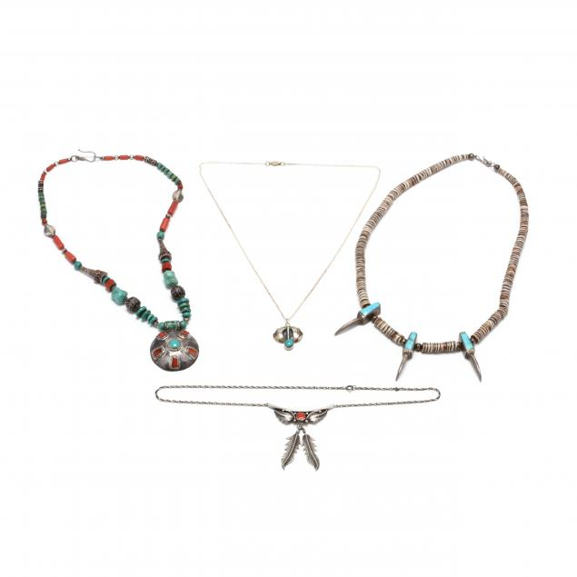 three-southwestern-silver-and-gem-set-necklaces