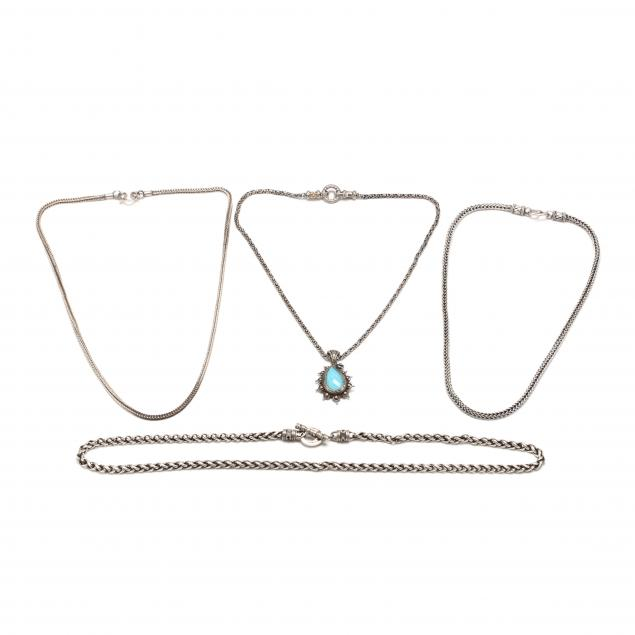 four-silver-necklaces