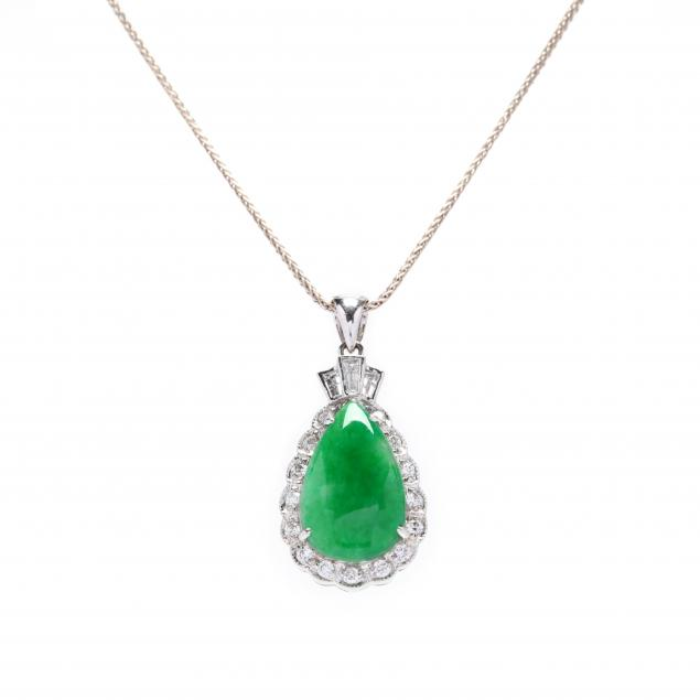18kt-white-gold-jade-and-diamond-necklace