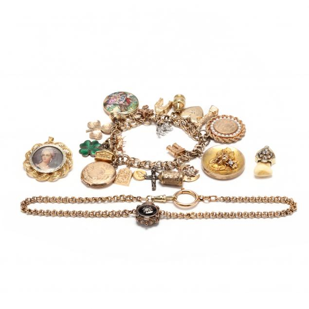 group-of-gold-and-gold-filled-jewelry-items