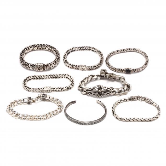 eight-gent-s-silver-bracelets