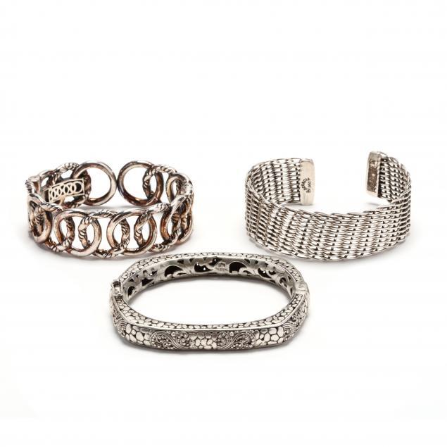 three-silver-bracelets