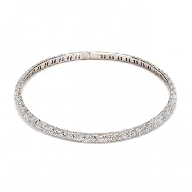 18kt-white-gold-and-diamond-choker-necklace