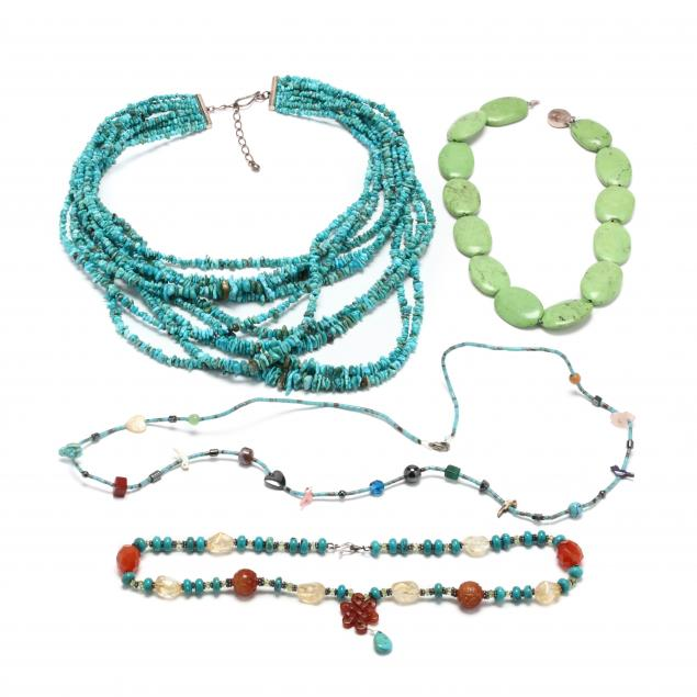 four-turquoise-bead-necklaces