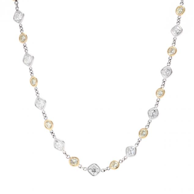 bi-color-14kt-gold-diamond-and-fancy-yellow-diamond-station-necklace