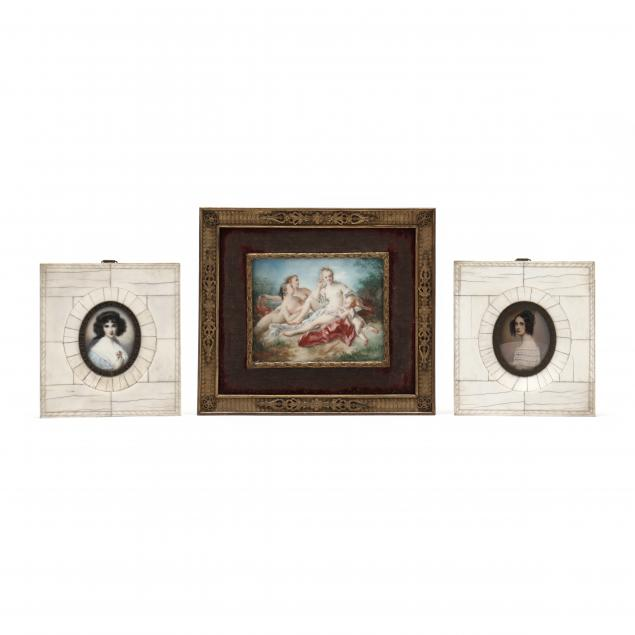 three-antique-miniature-paintings-and-portraits