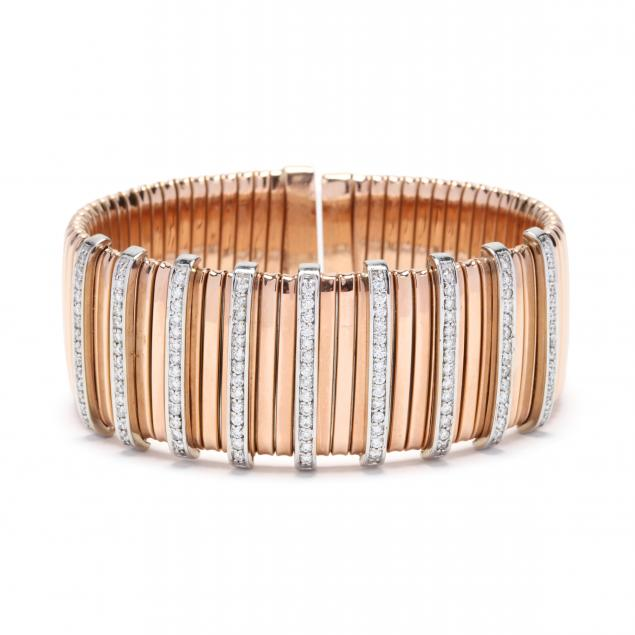 14kt-bi-color-gold-and-diamond-cuff-bracelet