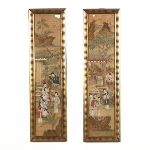 a-pair-of-qing-dynasty-paintings-of-a-noble-lady