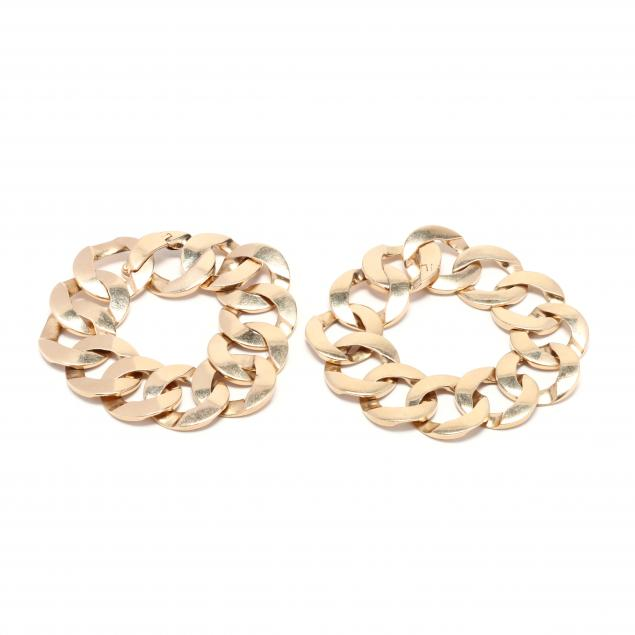 pair-of-14kt-gold-link-bracelets