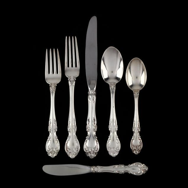 gorham-melrose-sterling-silver-flatware-service