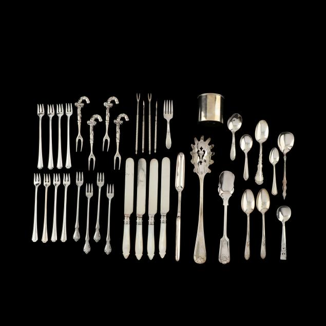 a-collection-of-vintage-silverplate-and-stainless-flatware