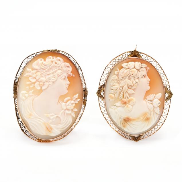two-gold-cameo-brooches