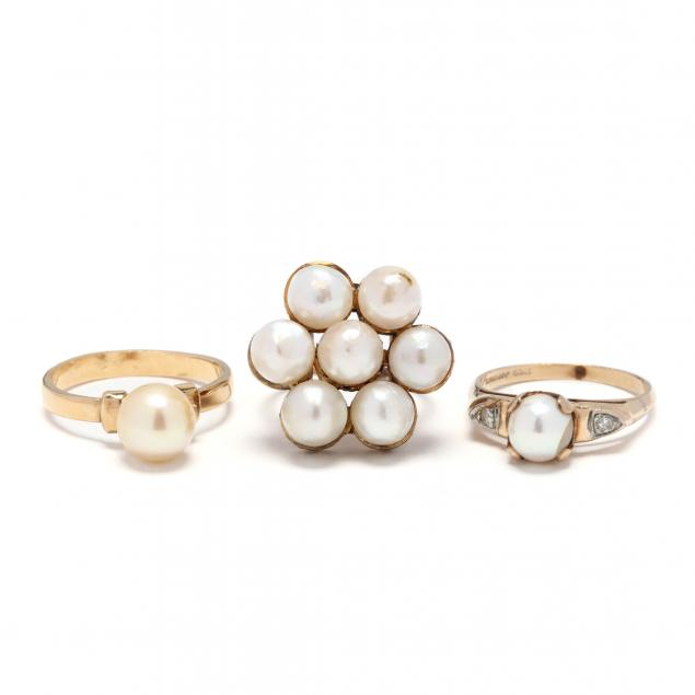 three-gold-and-pearl-rings