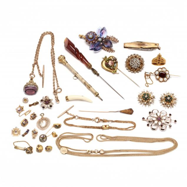 group-of-gold-filled-and-costume-jewelry