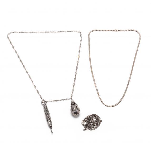 three-silver-necklaces