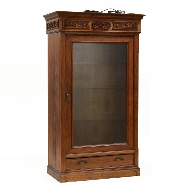 chinese-carved-hardwood-vitrine