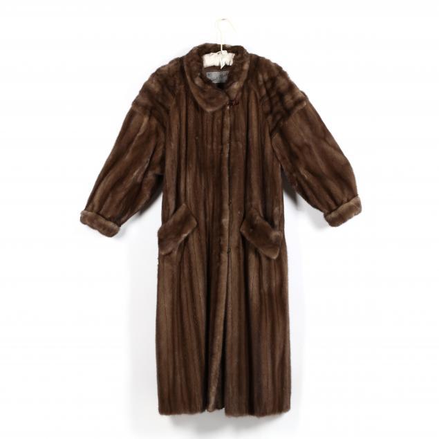 vintage-full-length-light-brown-mink-coat