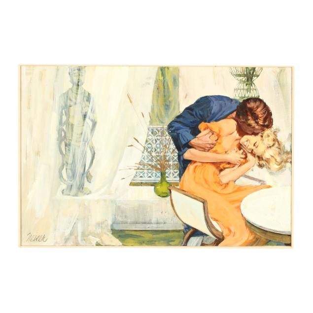 don-neiser-1918-2009-illustration-of-intimate-couple-in-a-curtained-interior
