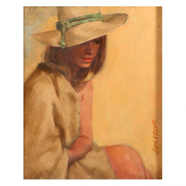 don-neiser-1918-2009-portrait-of-seated-woman-in-hat